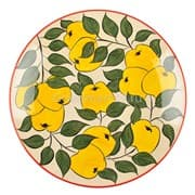 Ляган Риштанская Керамика 42 см. плоский, желтое яблоко