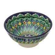 Коса для первых блюд Риштанская Керамика средняя d-15,5 см. h-8 см. синяя