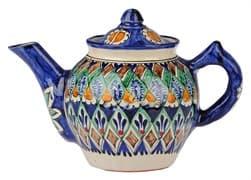 Чайник заварочный Риштанская Керамика 1 л. синий