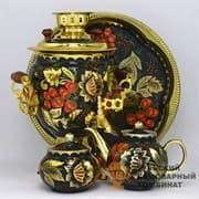 Набор Золотая Хохлома 3 л. желудь, электрический, 4 предмета,  ТСК